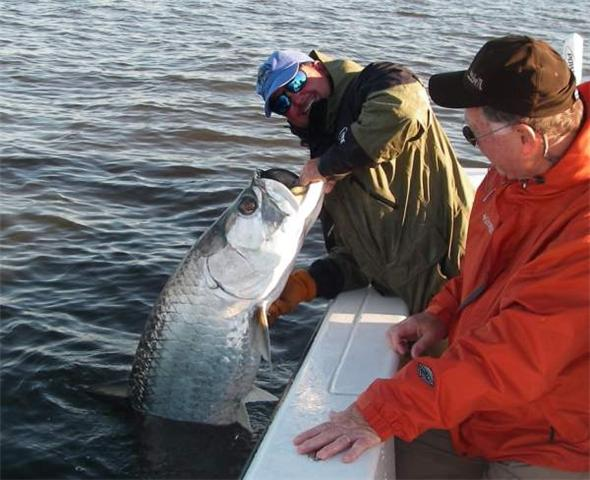Fishing for Tarpon just after a cold front, April 2009