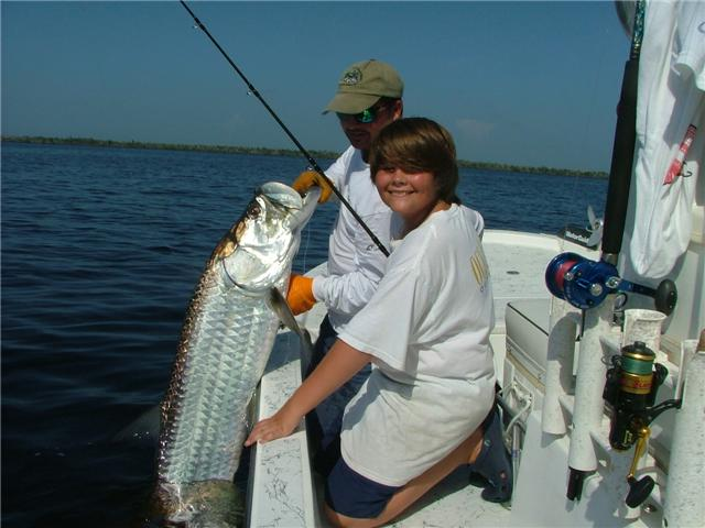 "August and September ""Blackwater"" tarpon fishing near the headwaters of Charlotte Harbor."