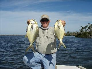 Pompano fishing on the flats of Charlotte Harbor, Pine Island and Fort Myers during the fall months.