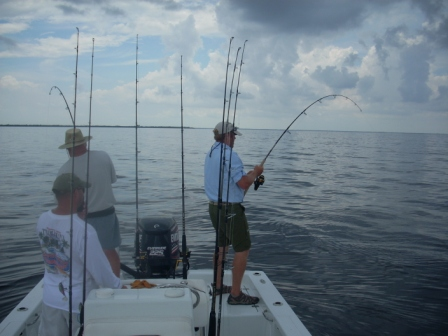 Double hook up on tarpon in Charlotte Harbor