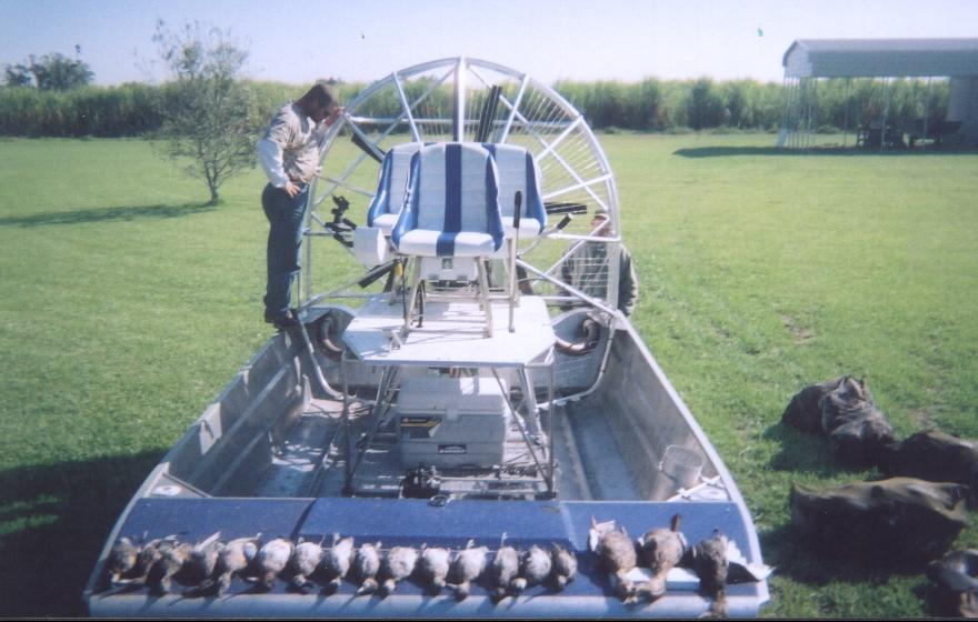 fishing and hunting guide airboat