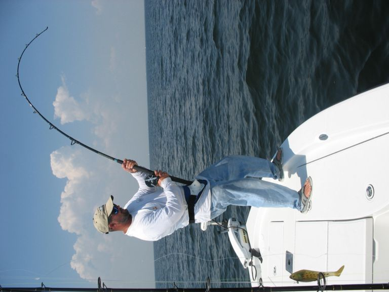Captain fishting a Tarpon