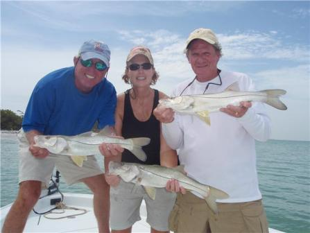 Triple hook-up on snook