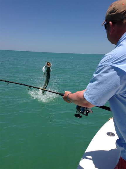 Tarpon fishing Boca Grande beach